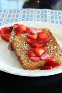 nut crusted french toast