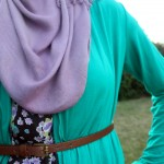 close up zeena tie shrug