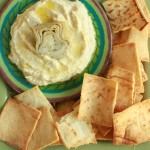 artichoke hummus with pita chips