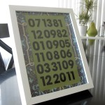 dates to remember framed