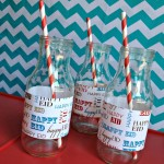modern eid striped straws