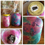 decoupage charity jar