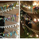 ribbon lights collage