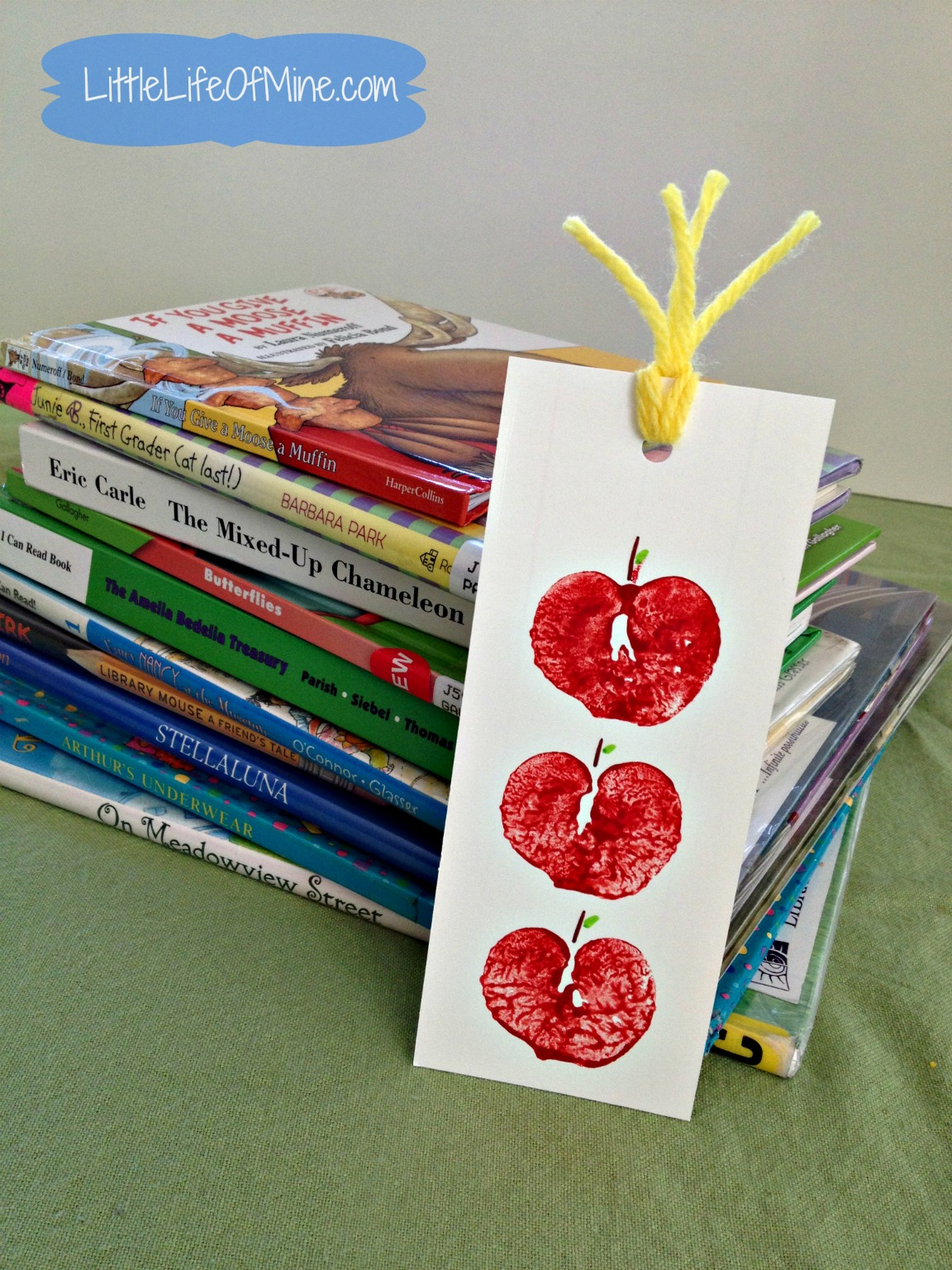 apple stamp bookmark