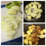 Apple Pie topping prep