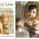 library lion character baby costume