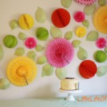 tissue fan flower wall