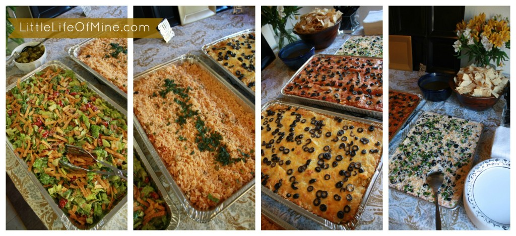 umrah party dinner spread