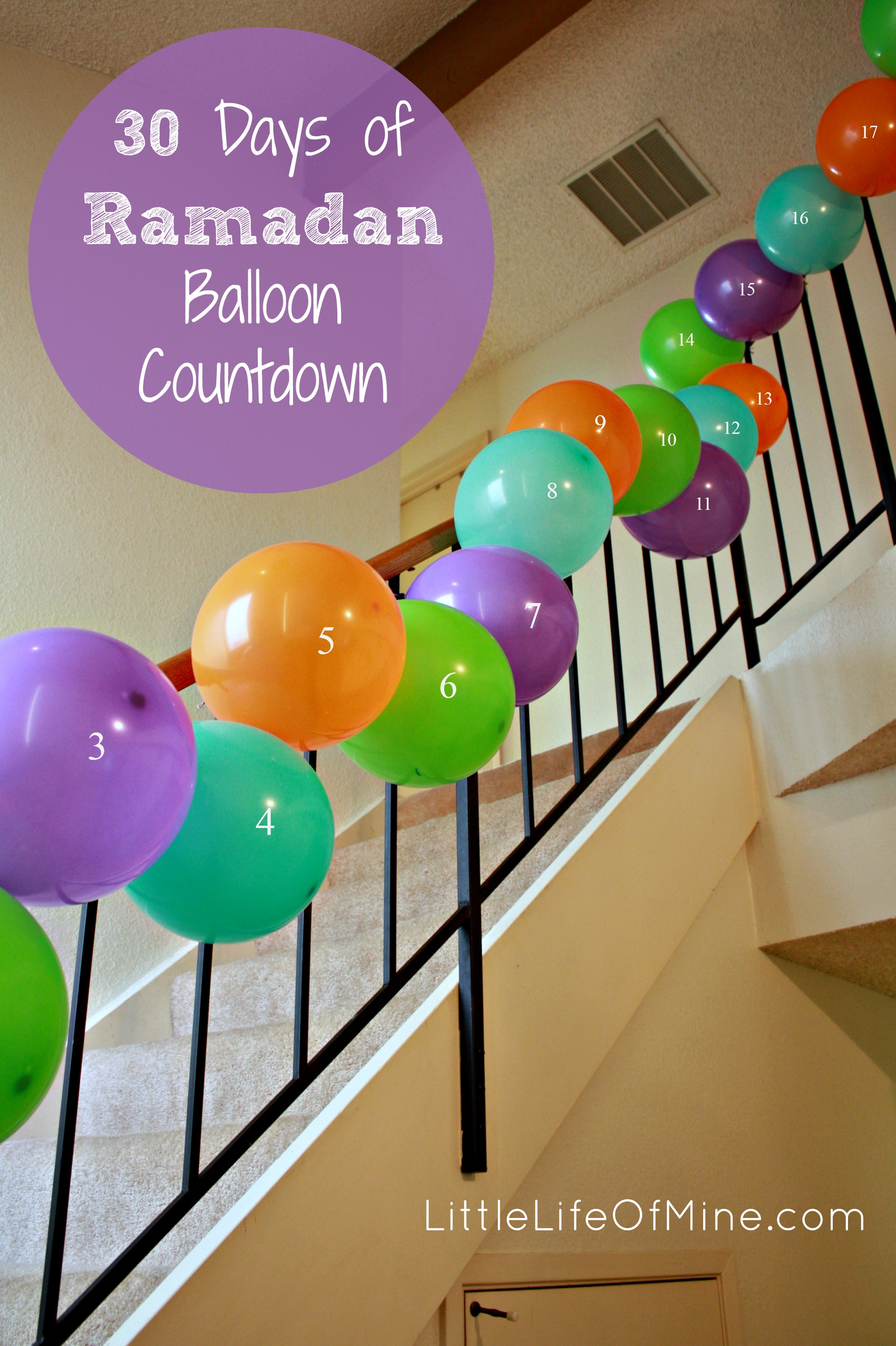 30 Days of Ramadan Balloon Countdown