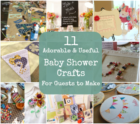 Baby Shower Crafts Guests Make