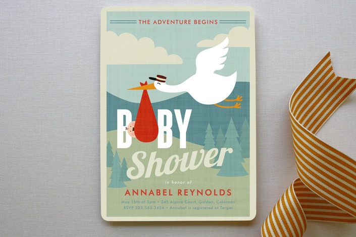 Adventurer Baby Shower Invitation