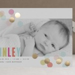 Confetti Birth Announcement