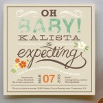 Oh Baby Florals Shower Invitation
