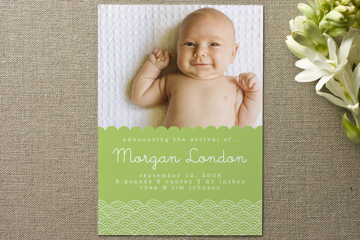 Scalloped Birth Announcement