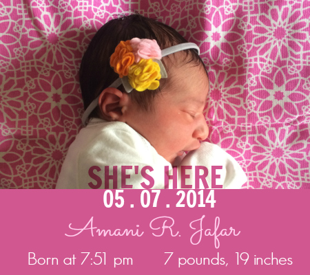 Amani Birth Announcement