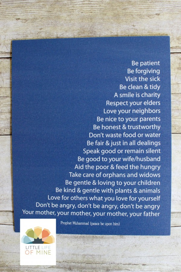 Blue Prophetic Advice Canvas