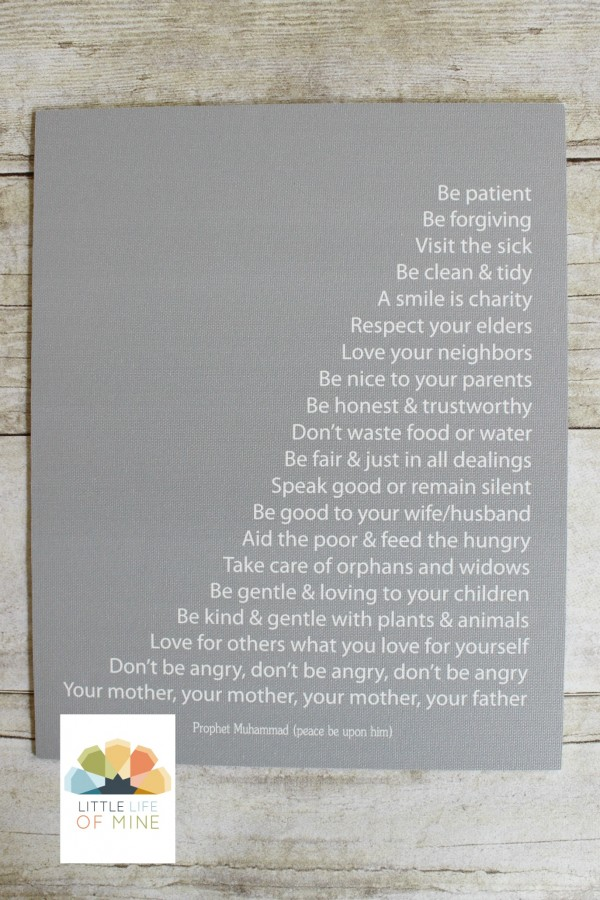 Gray Prophetic Advice Canvas