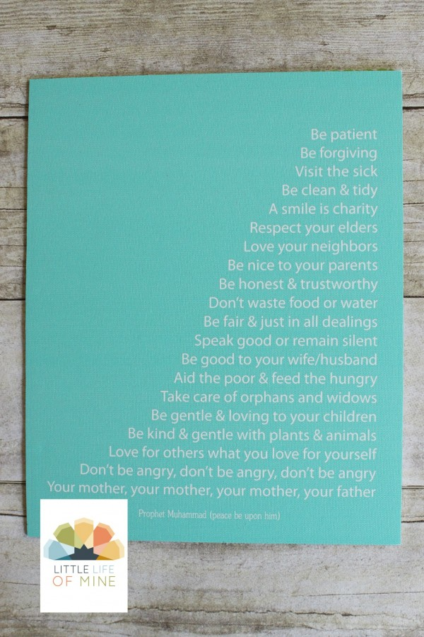 Teal Prophetic Advice Canvas