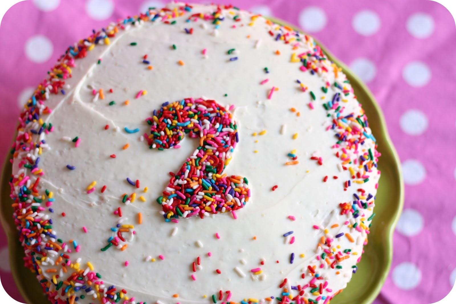 Simple Homemade Birthday Cake - littlelifeofmine.com